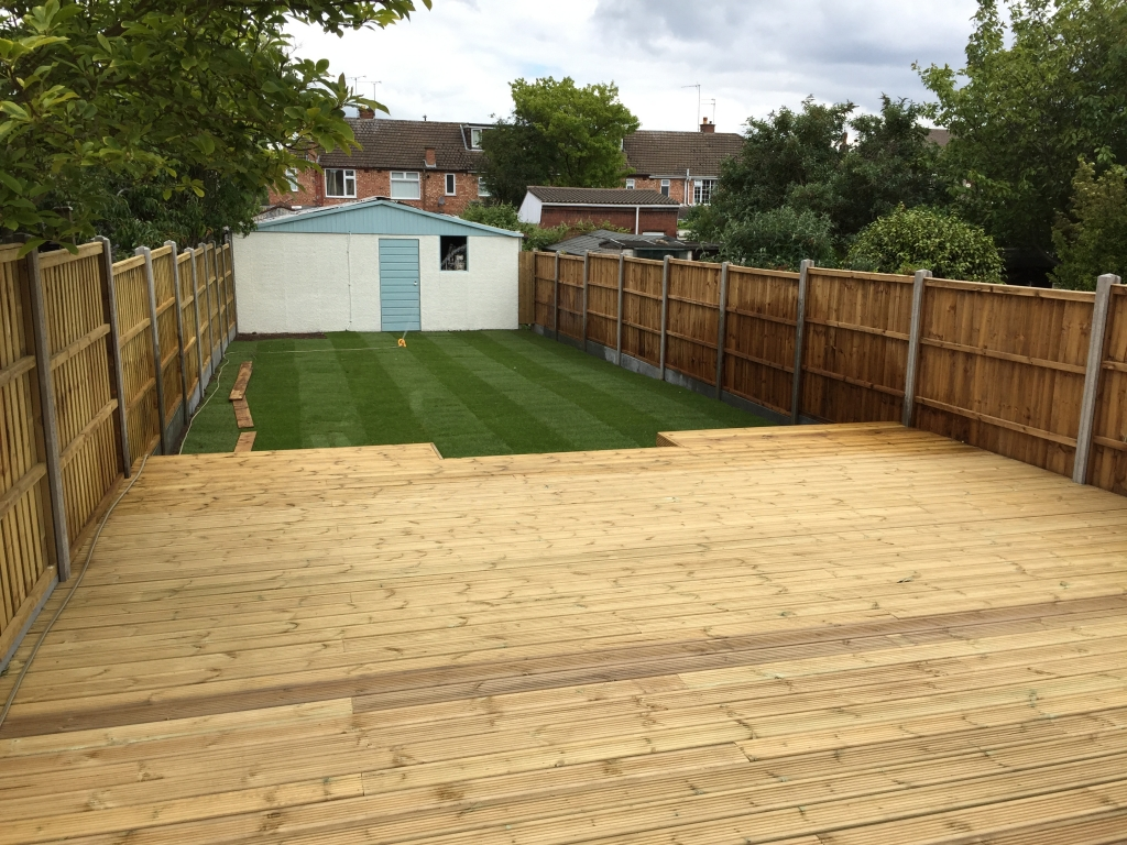 Coventry landscaping - decking